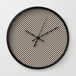 Desert Palm and White Polka Dots Wall Clock