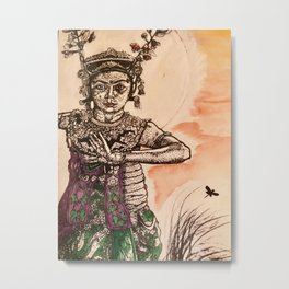Bali Dancer Metal Print