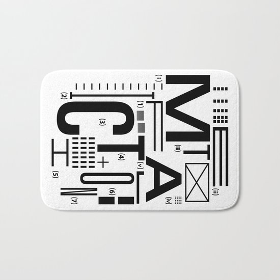METAL FICTION Bath Mat