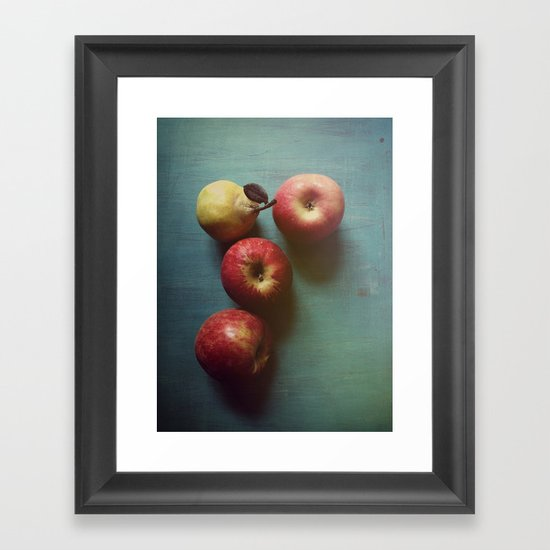 Autumn Apples Framed Art Print