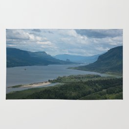 Columbia River Gorge From The Vista House Rug