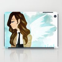 castiel iPad Cases featuring Castiel by Kaylain Cook