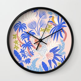 Rainforest Leopard Wall Clock