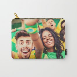 brazilian supporters cheering Carry-All Pouch