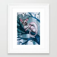 cheshire cat Framed Art Prints featuring Cheshire Cat by Black Fury