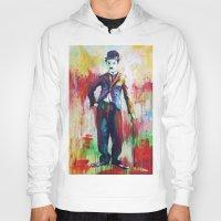 chaplin Hoodies featuring Charlie Chaplin by Marta Zawadzka