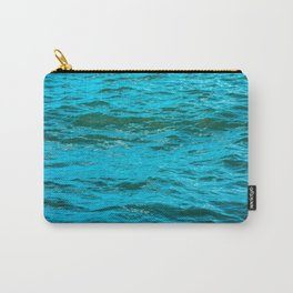Colorful blue water with small waves Carry-All Pouch