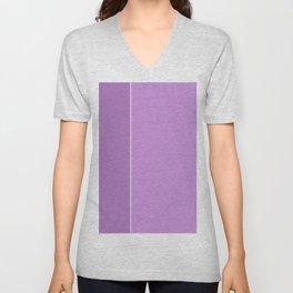 Purple Lines Unisex V-Neck