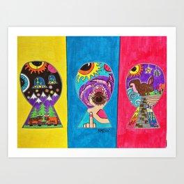 Keyhole Dimensions Art Print