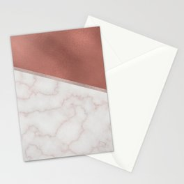 Lexington copper marble Stationery Cards