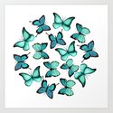 Blue butterflies by artcolours