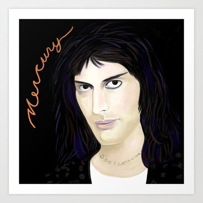 FreddieMercury A Bohemian Rhapsody Art Print