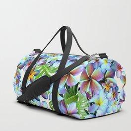 Rainbow Plumeria Pattern Duffle Bag