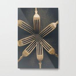 Circle of Forks Metal Print