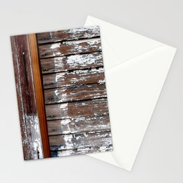 White Paint and Wood Stationery Cards