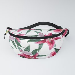 pink lily pattern 2 Fanny Pack