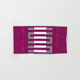 Licorice Bytes, No.3 in Black and Pink Hand & Bath Towel