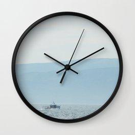 Boat & Mountain Wall Clock