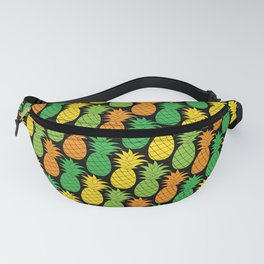colorful pineapple pattern, fresh fruits design Fanny Pack