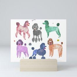 Poodles by Veronique de Jong Mini Art Print