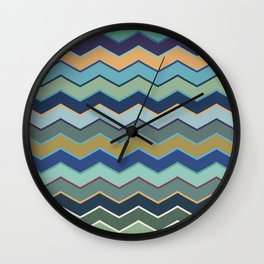 Colorful Wave II Wall Clock
