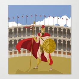 great spartan gladiator Canvas Print