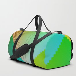 RGB (red gren blue) pixel grid planes crossing at right angles Duffle Bag