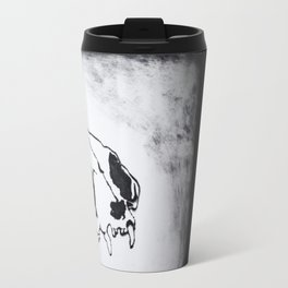 Catskull plexiglass drypoint print Travel Mug
