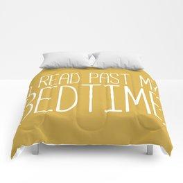 I Read Past My Bedtime (Mustard) Comforters