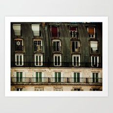 Parisian Windows. Art Print