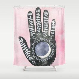 Moon Palm Shower Curtain
