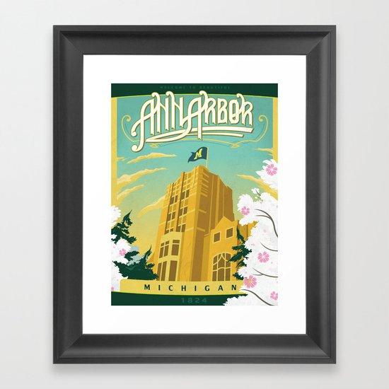 Ann Arbor Union Framed Art Print