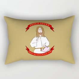 Jesus saves! (and so should you) Rectangular Pillow
