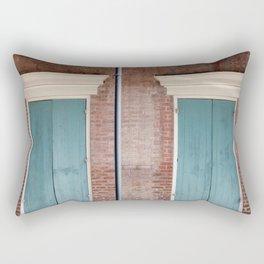 Brick and Blue Rectangular Pillow