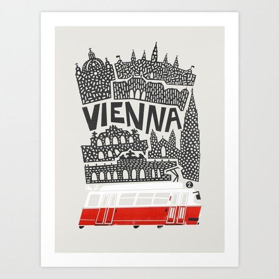 Vienna City Print by foxandvelvet
