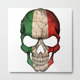 Exclusive Italy skull design Metal Print
