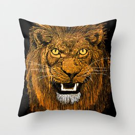 Thunder Lion Throw Pillow