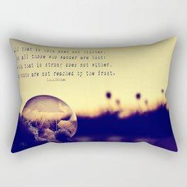 Bubble at Sunrise Rectangular Pillow