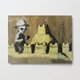 Banksy on the beach Metal Print