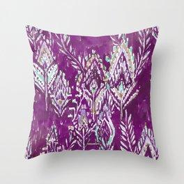 BRAVE FEATHER TRIBAL - PLUM Throw Pillow