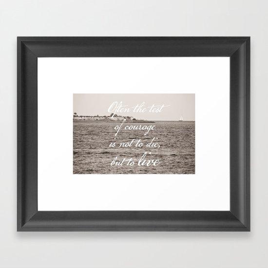 Sailboat & Sumter Framed Art Print