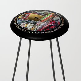Times Square II (widescreen on black) Counter Stool