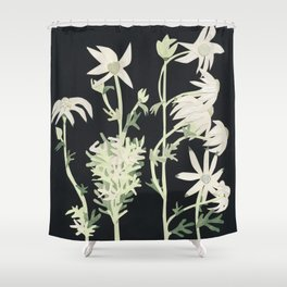 Flannel Flowers Shower Curtain