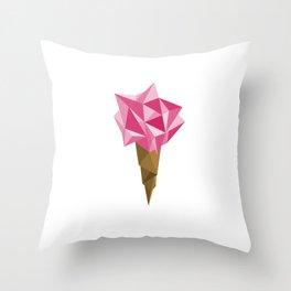 Ice cream/Pink Throw Pillow