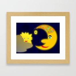 Good old moon .. Framed Art Print