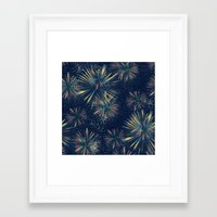 fireworks Framed Art Prints featuring Fireworks! by LLL Creations