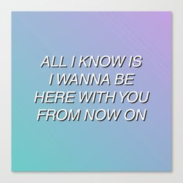 Aquman by Walk The Moon (Lyrics) Canvas Print