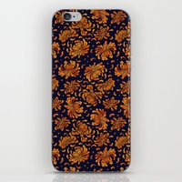 korean iPhone & iPod Skins featuring Korean Chrysanthemum - Orange by 1004kim