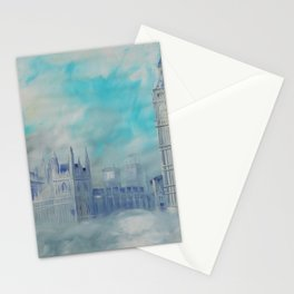 London Palace of Westminster S050 Large impressionism acrylic painting art by artist Ksavera Stationery Cards