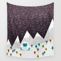 yeti Wall Tapestries featuring Yeti by Kakel